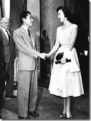 皇太子さまと伊藤絹子さん(1953)
