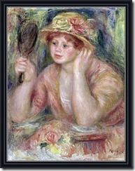 Renoir: Woman with a Mirror, c.1915