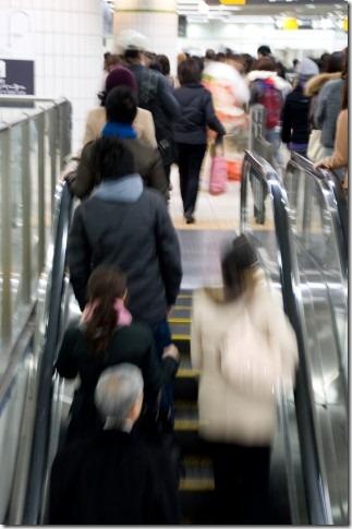 エスカレーター@東急東横線・横浜駅