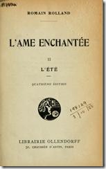 L'ame enchantée. 2, L'Eté. – Paris : Ollendorff, 1923