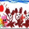 国際比較「子供が描く太陽の色」